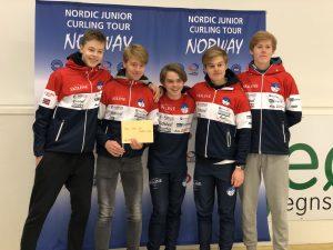 En fornøyd gjeng etter seier i Trondheim